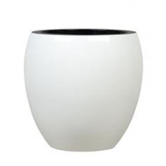 Кашпо Jura Round, пластик, белый