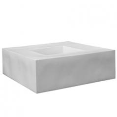 Кашпо Fiberstone Jumbo Seating, пластик, белый