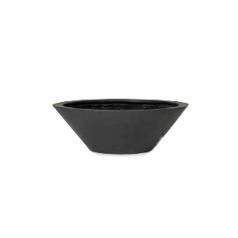 Кашпо Fiberstone Don, пластик, черный