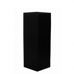 Кашпо Fiberstone Yang, пластик, черный