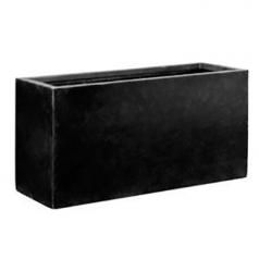 Кашпо Fiberstone Jort, пластик, черный