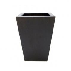 Кашпо Fiberstone Thom, пластик, черный