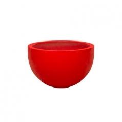 Кашпо Fiberstone Glossy Bowl, пластик, красный
