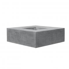 Кашпо Fiberstone Jumbo Seating, пластик, серый