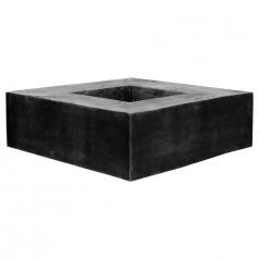 Кашпо Fiberstone Jumbo Seating, пластик, черный