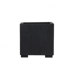Кашпо Fiberstone Jumbo, пластик, черный