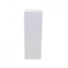 Кашпо Fiberstone Yang, пластик, белый