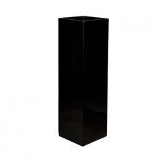 Кашпо Fiberstone Ying, пластик, черный