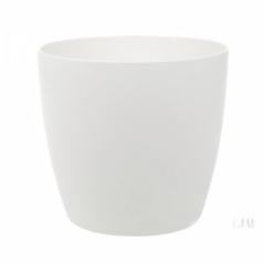 Кашпо Brussels round, пластик, белый