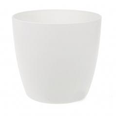 Кашпо Elho Brussels round, пластик, белый