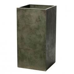 Кашпо Concretika Column Eskolaite, цемент, зеленый
