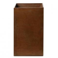 Кашпо Concretika Column Umbra, цемент, коричневый