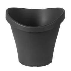 Кашпо Scheurich, пластик, серый