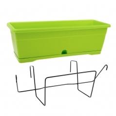 Балконный ящик с крепл., Idel, VERSILIA X1, пластик, зеленое яблоко