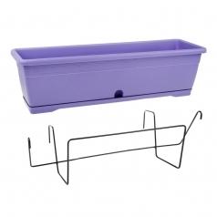 Балконный ящик с крепл., Idel, VERSILIA X1, пластик, сиреневый