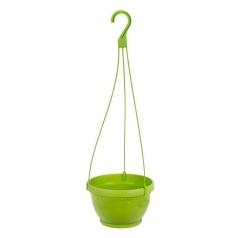 Кашпо подвесное, Idel, LIPARI, пластик, зеленое яблоко