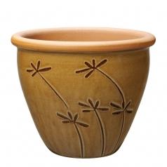 Горшок Deroma Graminees vaso, marrone