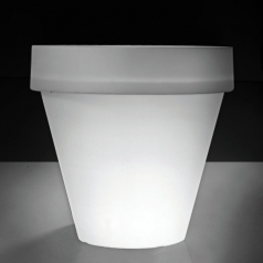 Кашпо Plastecnic Vaso Tondo Liscio Bordato, Moonlight