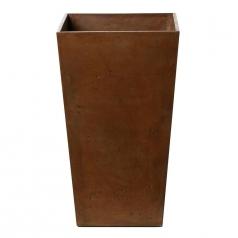 Кашпо Concretika Conic Umbra, цемент, коричневый