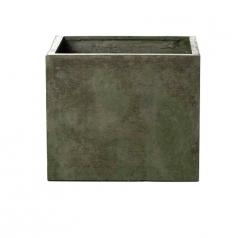 Кашпо Concretika Cube Eskolaite, цемент, зеленый