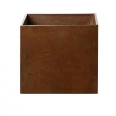Кашпо Concretika Cube Umbra, цемент, коричневый