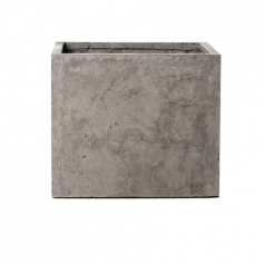 Кашпо Concretika Cube Concrete Smokey-gray, цемент, дымчато-серый