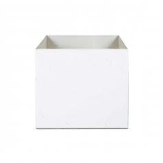Кашпо Concretika Cube Santorini, цемент, белый