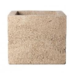Кашпо Concretika Cube Sandstone, цемент, песчаник