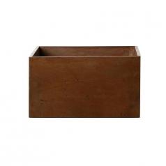 Кашпо Concretika Polycube Umbra, цемент, коричневый