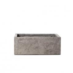 Кашпо Concretika Polycube Concrete Smokey-gray, цемент, дымчато-серый