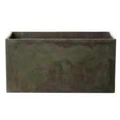 Кашпо Concretika Polycube high Eskolaite, цемент, зеленый