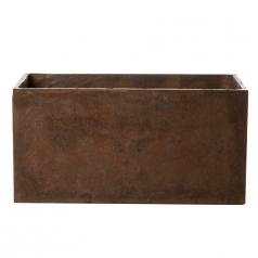 Кашпо Concretika Polycube high Umbra, цемент, коричневый