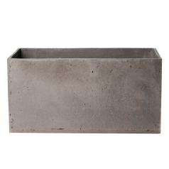 Кашпо Concretika Polycube high Concrete Smokey-gray, цемент, дымчато-серый