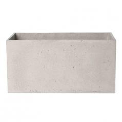 Кашпо Concretika Polycube high Concrete Cloud, цемент, облачно-серый