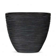 Кашпо Capi Nature Oval Planter High Mini, rib black