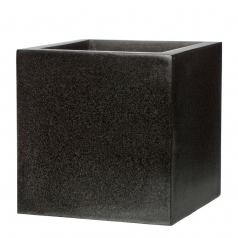Кашпо Capi Lux Куб, черный