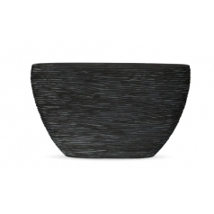Кашпо Capi Nature Planter Oval, rib black