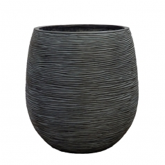 Кашпо Capi Nature Planter, rib ball black
