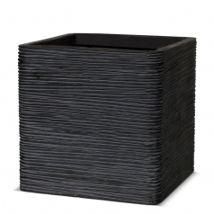 Кашпо Capi Nature Planter Square, rib black