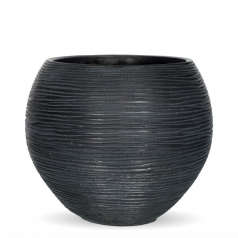 Кашпо Capi Nature Vase Ball Mini, rib black