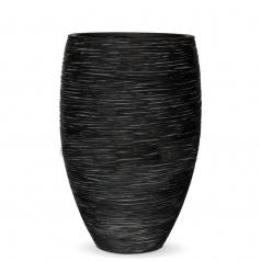 Кашпо Capi Nature Vase Elegant Deluxe, rib black