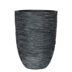 Кашпо Capi Nature Vase Elegant Low, rib black