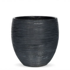 Кашпо Capi Nature Vase Elegant Mini, rib black