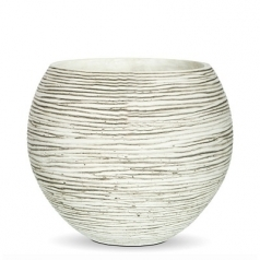 Кашпо Capi Nature Vase Ball Mini Rib, Ivory