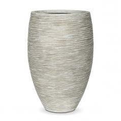 Кашпо Capi Nature Vase Elegant Deluxe Rib, Ivory