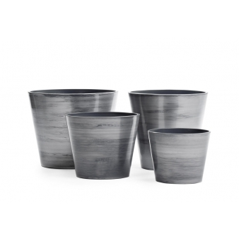 Кашпо Hikari, серебро с окисью