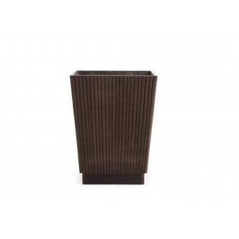 Кашпо Ishi высокая трапеция, шоколад