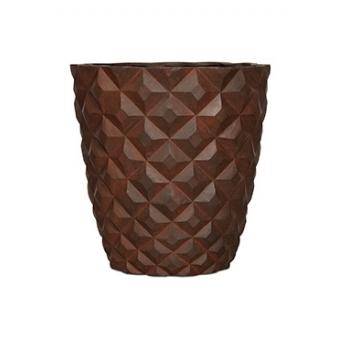 Кашпо Capi lux heraldry vase taper round, rust