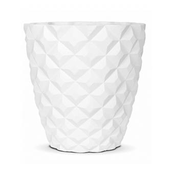 Кашпо Capi lux heraldry vase taper round, white