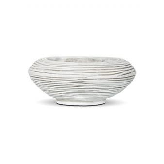 Кашпо Capi nature bowl round rib ivory